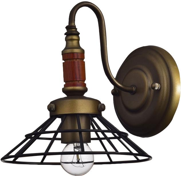 1 light antique wood rustic wire cage wall sconce wall lamp light fixture