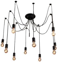 10 light artistic modern flush mount pendant lamp light chandelier - Thumbnail 0