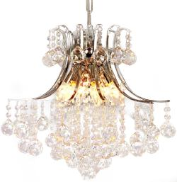 Modern Crystal Chandelier, 6 Light, Modern Ceiling Light, Fixture