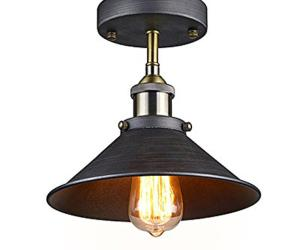 Vintage industrial semi flush mount edison ceiling lamp light