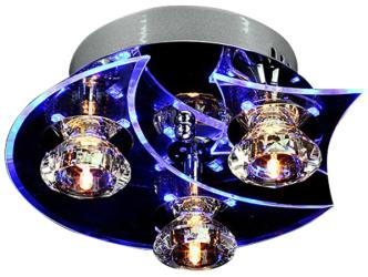 Modern Ceiling Light, Fixture LED Crystal Flush Mount, 3 Light