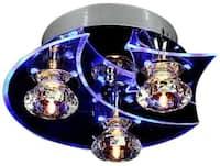 Modern Ceiling Light, Fixture LED Crystal Flush Mount, 3 Light