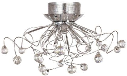 11 Light, Chrome, Flush Mount Ceiling Light, Fixture