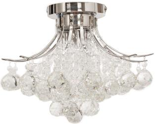 Chrome Finish Crystal Chandelier, 3 Light, Ceiling Light, Fixture
