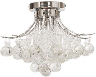 Chrome Crystal 3 Light, Flush Mount Ceiling Light, Fixture
