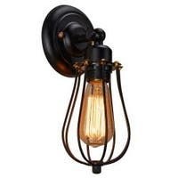 Mini black wire cage industrial edison wall sconce wall lamp light