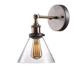 Retro industrial edison glass wall sconce wall lamp light