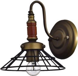 1 light antique wood rustic wire cage wall sconce wall lamp light fixture - Thumbnail 0