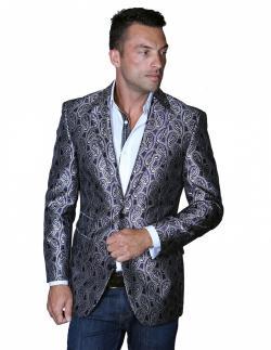 Men's Manzini Dark Purple Woven sport coat