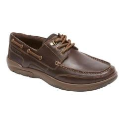 Men's Rockport Cshore Bound 3 Eye Shoe Dark Brown Leather