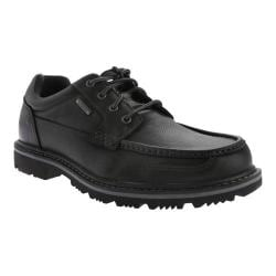 Men's Rockport Gentlemen's Boot Waterproof Moc Toe Oxford Black Leather
