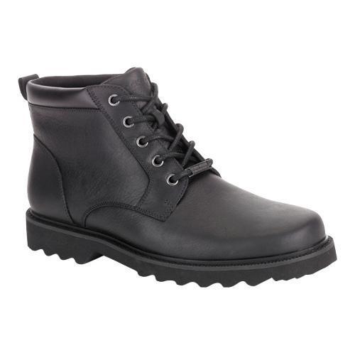 Men's Rockport Northfield Plain Toe Boot Black Full Grain...