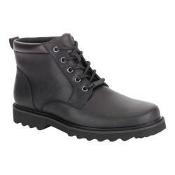 Men's Rockport Northfield Plain Toe Boot Black Full Grain Leather