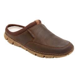 Men's Rockport RocSports Lite 2 Mule Chocolate Full Grain Leather