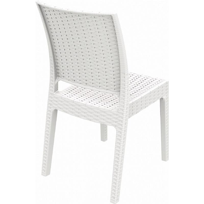 Florida Resin Wickerlook Dining Chair (Set of Two), White