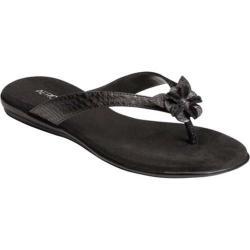 Women's Aerosoles Branchlet Black Faux Leather Sandals