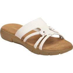 Women's Aerosoles Wip Away White Snake Faux Leather Sandals