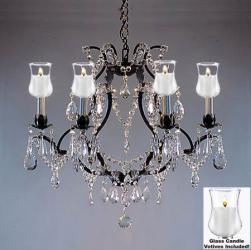 Crystal Chandelier Lighting With Candle Votives H19 W20 For Indoor/Outdoor Use - Thumbnail 0
