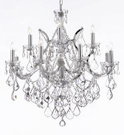 Maria Theresa Crystal Chandelier Lighting Chrome Finish H30 x W28
