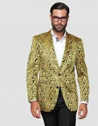 Men's Manzini Gold Woven sport coat