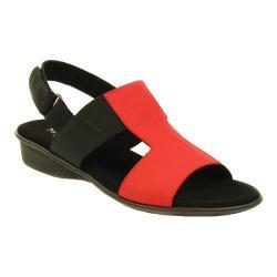 Women's Sesto Meucci Eudore Sandal Red Nabuk/Black Nabuk