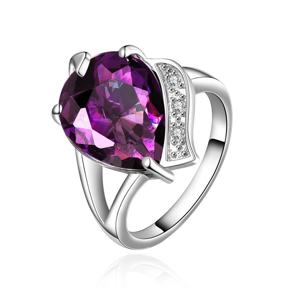 Vienna Jewelry Purple Citrine Modern Closure Ring Size 7