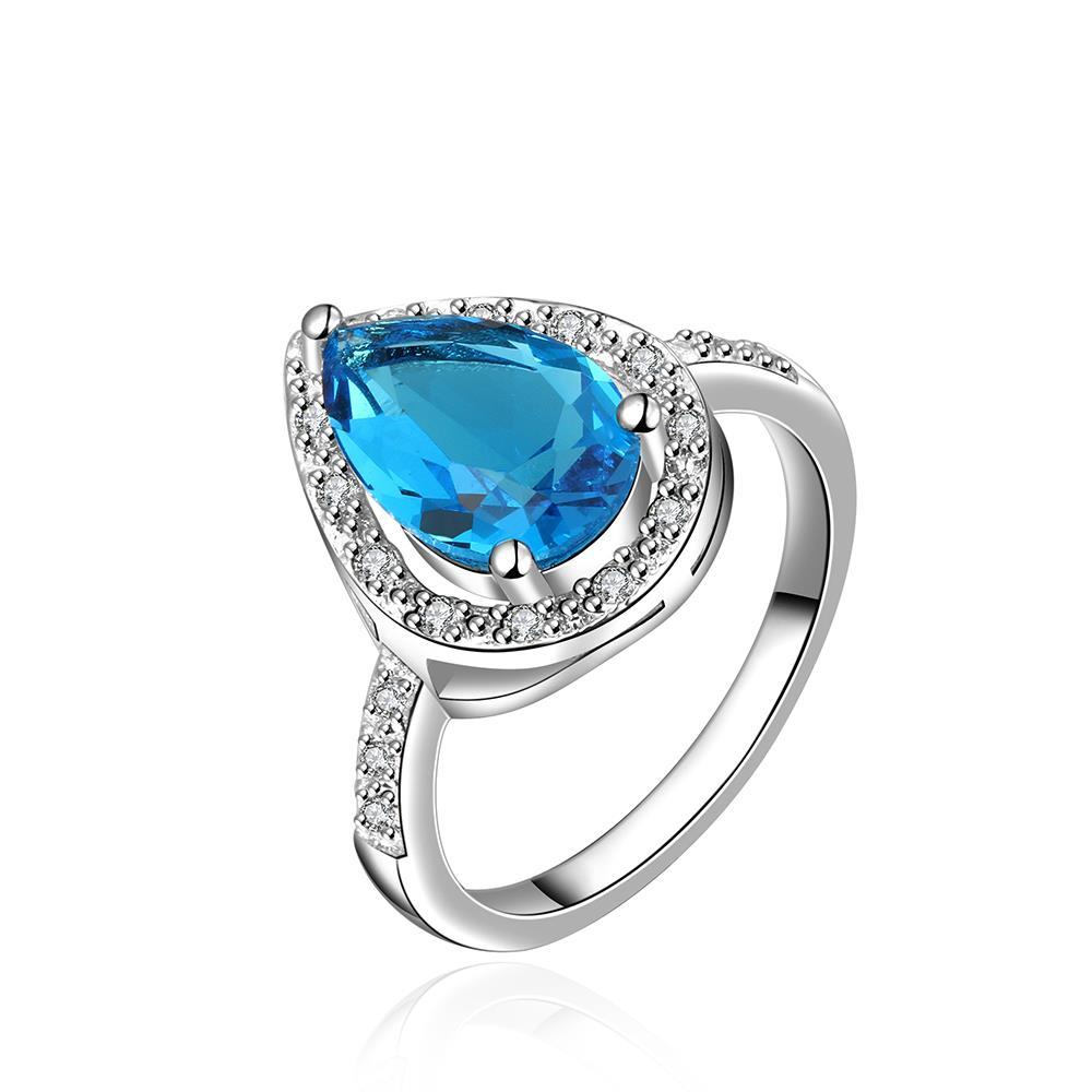 Mock Sapphire Triangular Shaped Ring Size 7