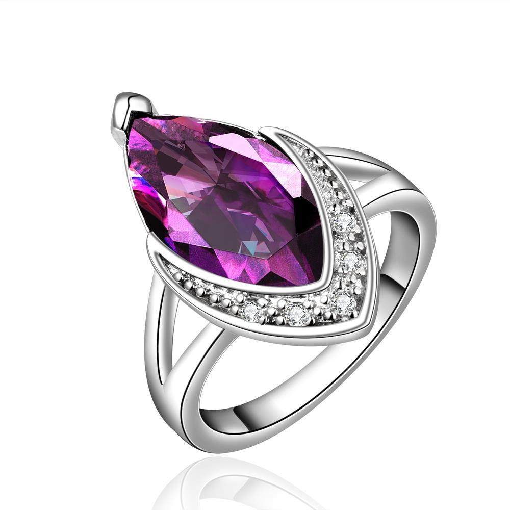 Purple Citrine Classical Jewels Covering Ring Size 8