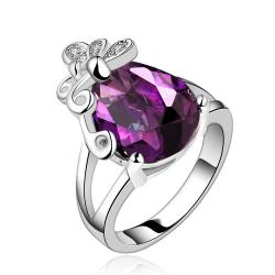 Vienna Jewelry Purple Citrine Petite Butterfly Insert Ring Size 7 - Thumbnail 0
