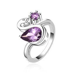 Vienna Jewelry Purple Citrine Petite Curved Ring Size 8