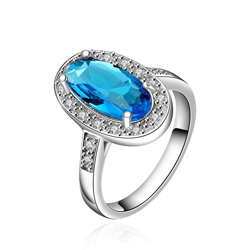 Vienna Jewelry Mock Sapphire Gem Jewels Covering Classical Ring Size 7