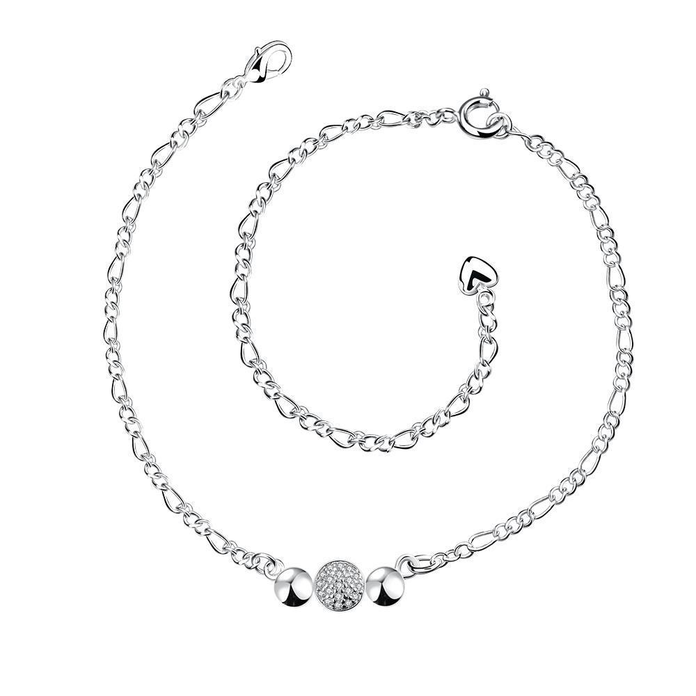 Vienna Jewelry Petite Trio-Circles Anklet