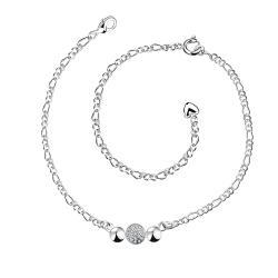 Vienna Jewelry Petite Trio-Circles Anklet - Thumbnail 0