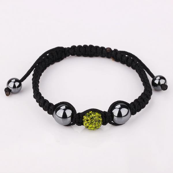 Vienna Jewelry Hand Made Swarovksi Elements Bracelet- Dark Emerald