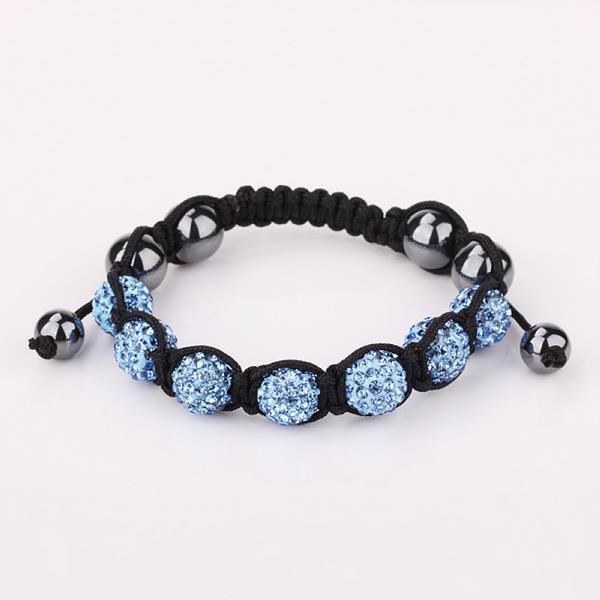 Vienna Jewelry Hand Made Six Stone Swarovksi Elements Bracelet- Bright Saphire