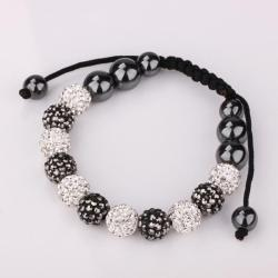 Vienna Jewelry Hand Made Swarovksi Elements Bracelet & Crystal Beads-Dark Onyx