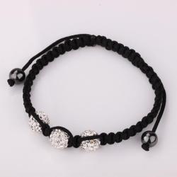 Vienna Jewelry Pave Swarovksi Elements Style Bracelet-White - Thumbnail 0