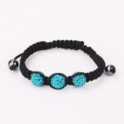 Vienna Jewelry Pave Swarovksi Elements Style Bracelet- Light Saphire