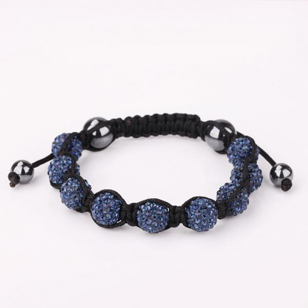 Vienna Jewelry Hand Made Eight Stone Swarovksi Elements Bracelet- Dark Saphire