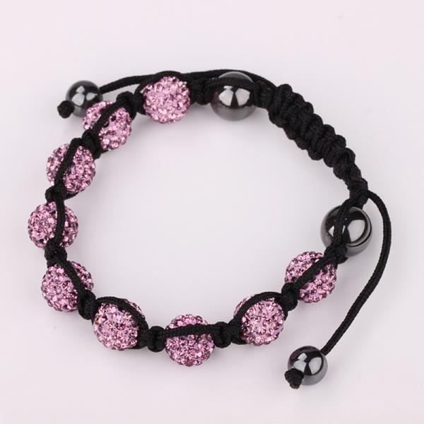 Vienna Jewelry Hand Made Eight Stone Swarovksi Elements Bracelet- Dark Coral