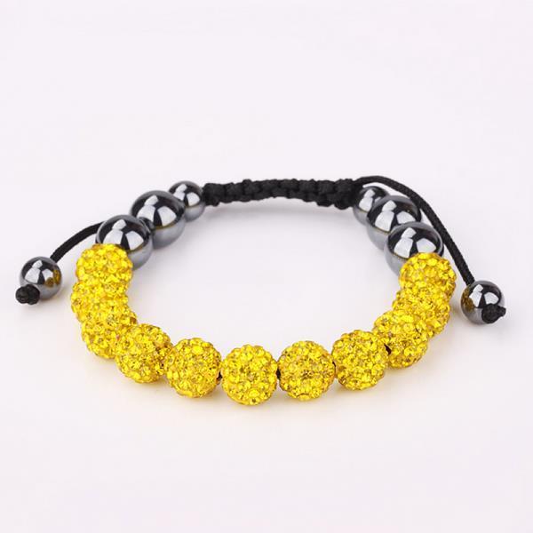 Vienna Jewelry Hand Made Eleven Stone Swarovksi Elements Bracelet- Vibrant Yellow Citrine