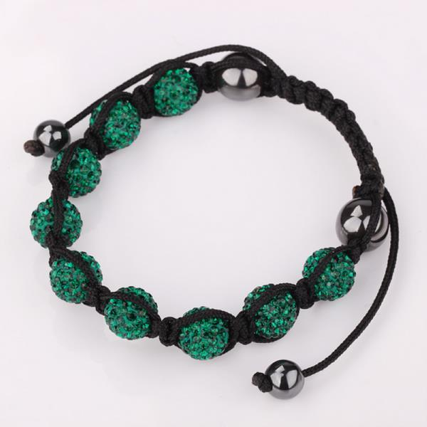 Vienna Jewelry Hand Made Eight Stone Swarovksi Elements Bracelet- Dark Emerald