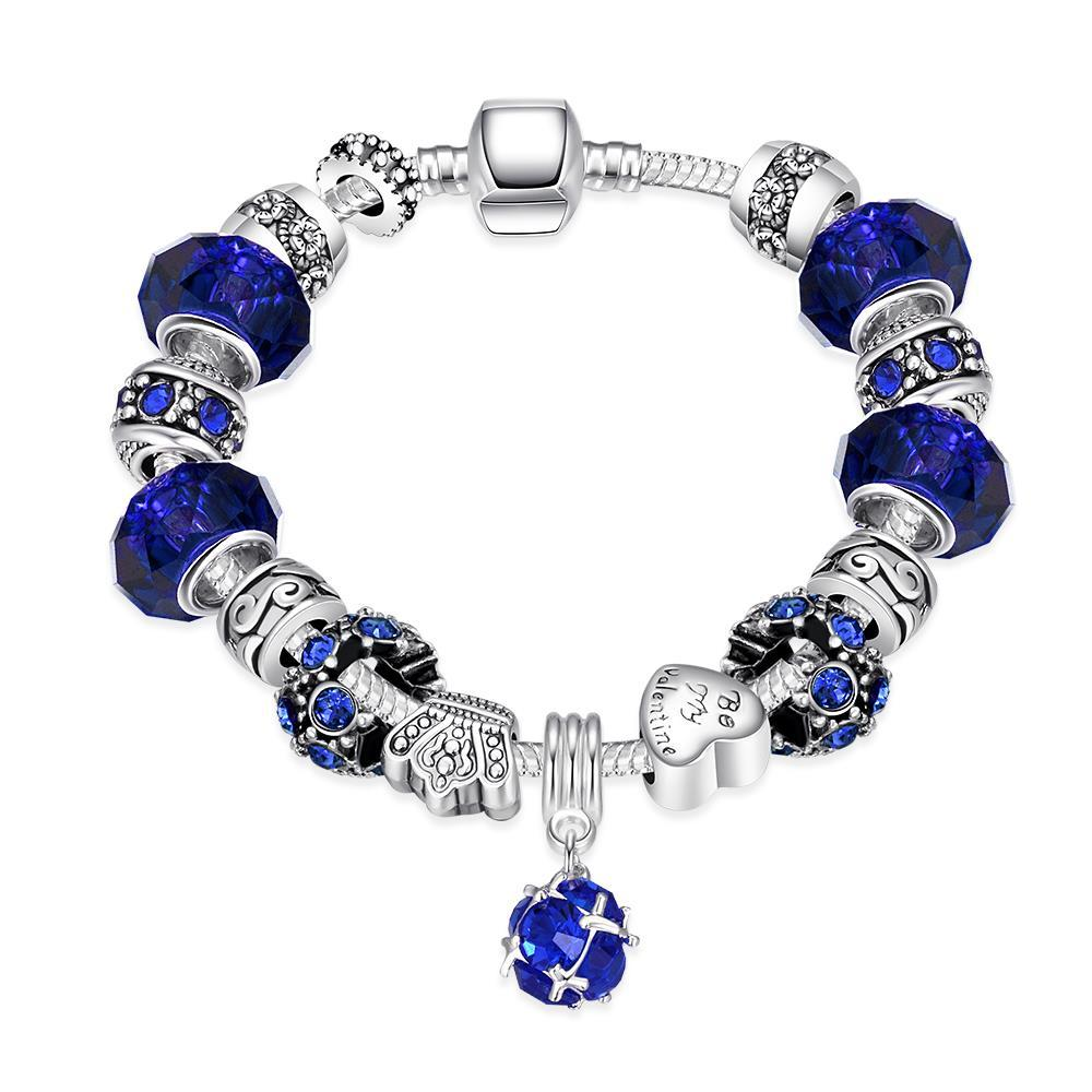 Vienna Jewelry 50 Shades of Aqua Blue Bracelet