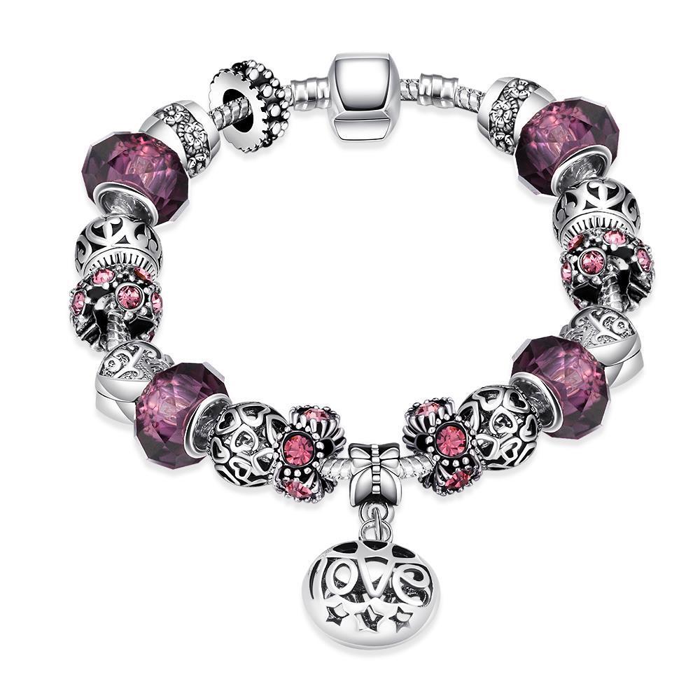 Vienna Jewelry Purple Fusion Bracelet