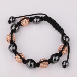 Vienna Jewelry Hand Made Swarovksi Elements Bracelet & Crystal Beads-Light Orange Citrine