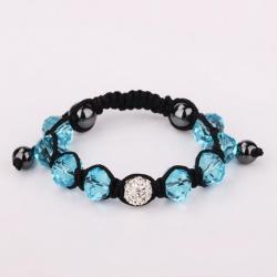 Vienna Jewelry Hand Made Swarovksi Elements Bracelet & Gemstone Beads-Light Saphire