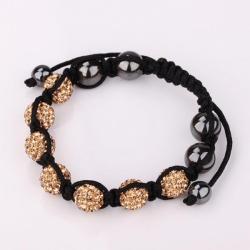 Vienna Jewelry Hand Made Six Stone Swarovksi Elements Bracelet- Bright Orange Citrine - Thumbnail 0