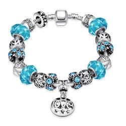 Vienna Jewelry Colors of the Swedish Sea Pandora Inspired Bracelet