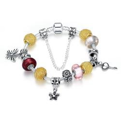 Vienna Jewelry The Key to My Heart Pandora Inspired Bracelet
