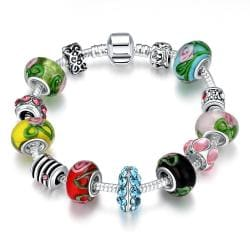 Vienna Jewelry Colors Of the Rainbow Pandora Inspired Bracelet